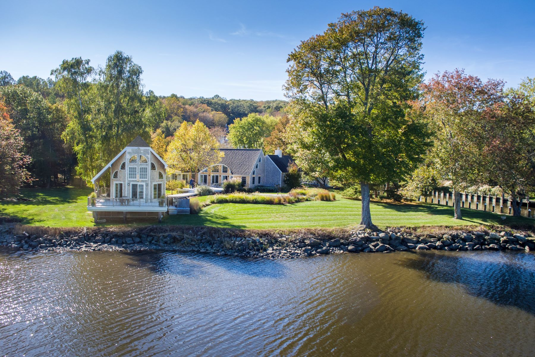 "Single Family Homes for Sale at ""Sunnyside"" Perched on the Banks of the CT River 369 River Road Deep River, Connecticut 06417 United States"