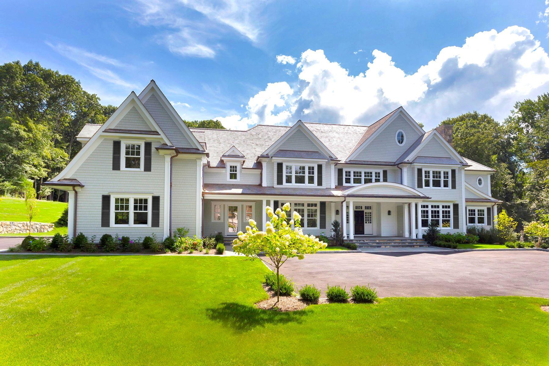 Maison unifamiliale pour l Vente à 198 West Hills Road 198 West Hills Road New Canaan, Connecticut 06840 États-Unis