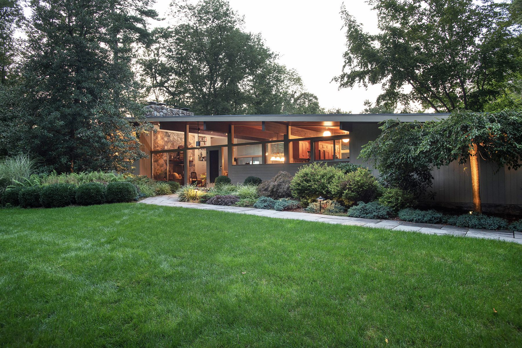 House for Sale at James Evans Mid-Century Modern 126 Chichester Road New Canaan, Connecticut 06840 United States