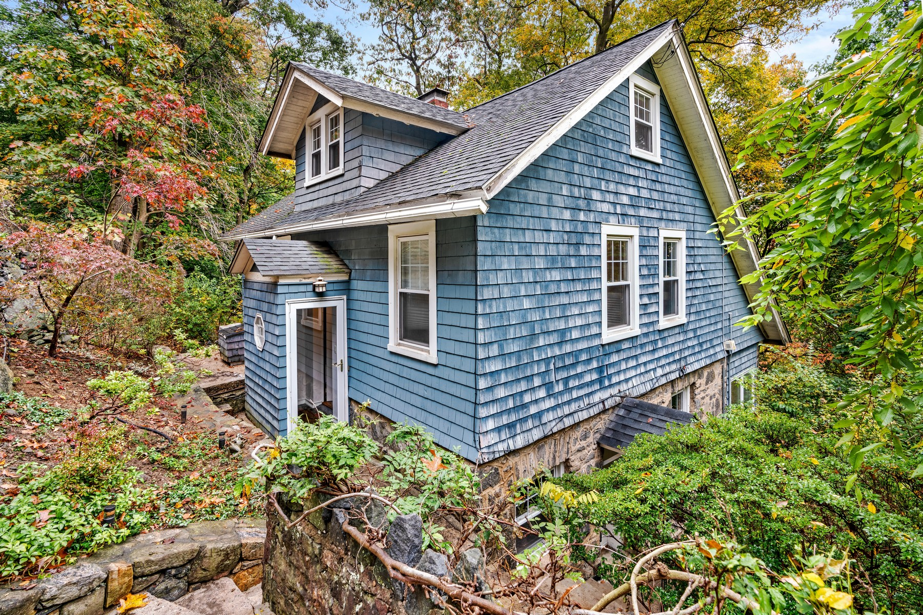 Single Family Homes for Sale at Romantic Arts & Crafts Cottage 21 Cliff Street Hastings On Hudson, New York 10706 United States