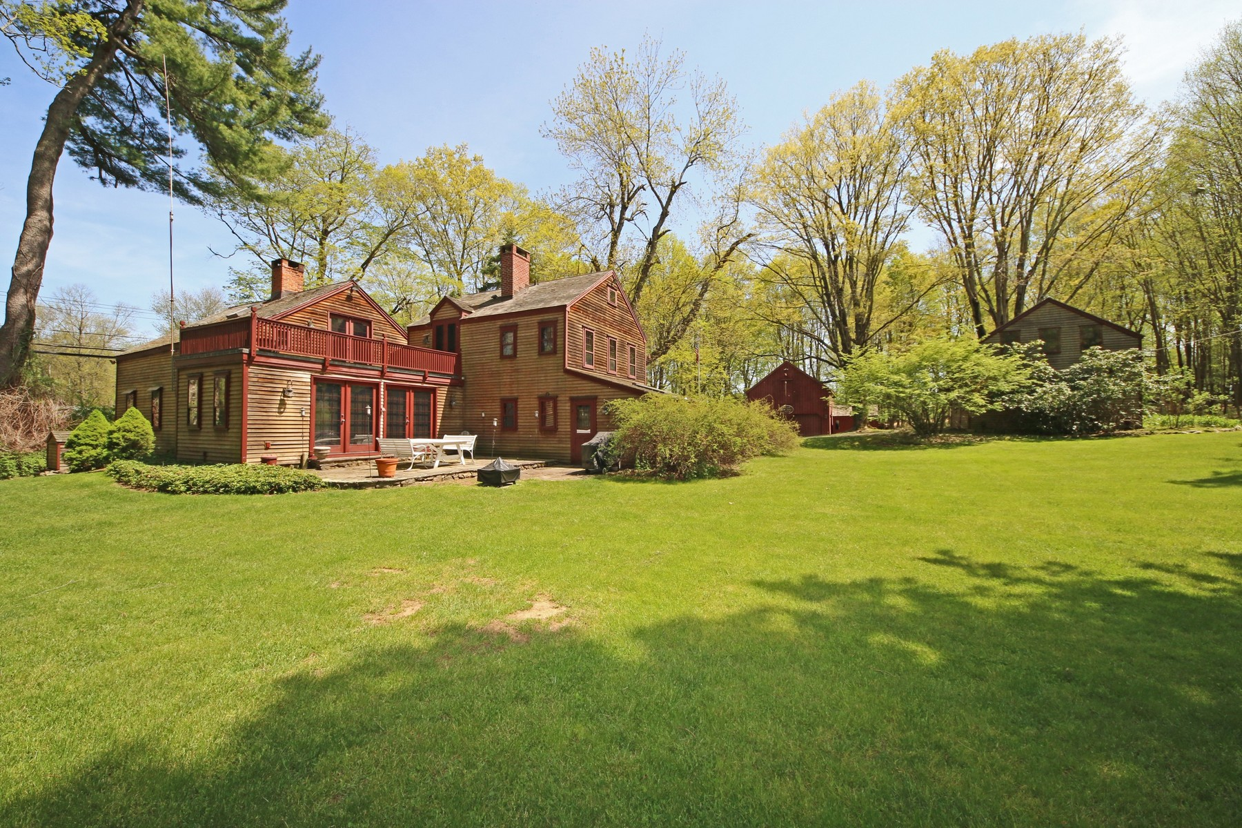 Single Family Home for Sale at Restored Antique 177 Lonetown Road Redding, Connecticut, 06896 United States