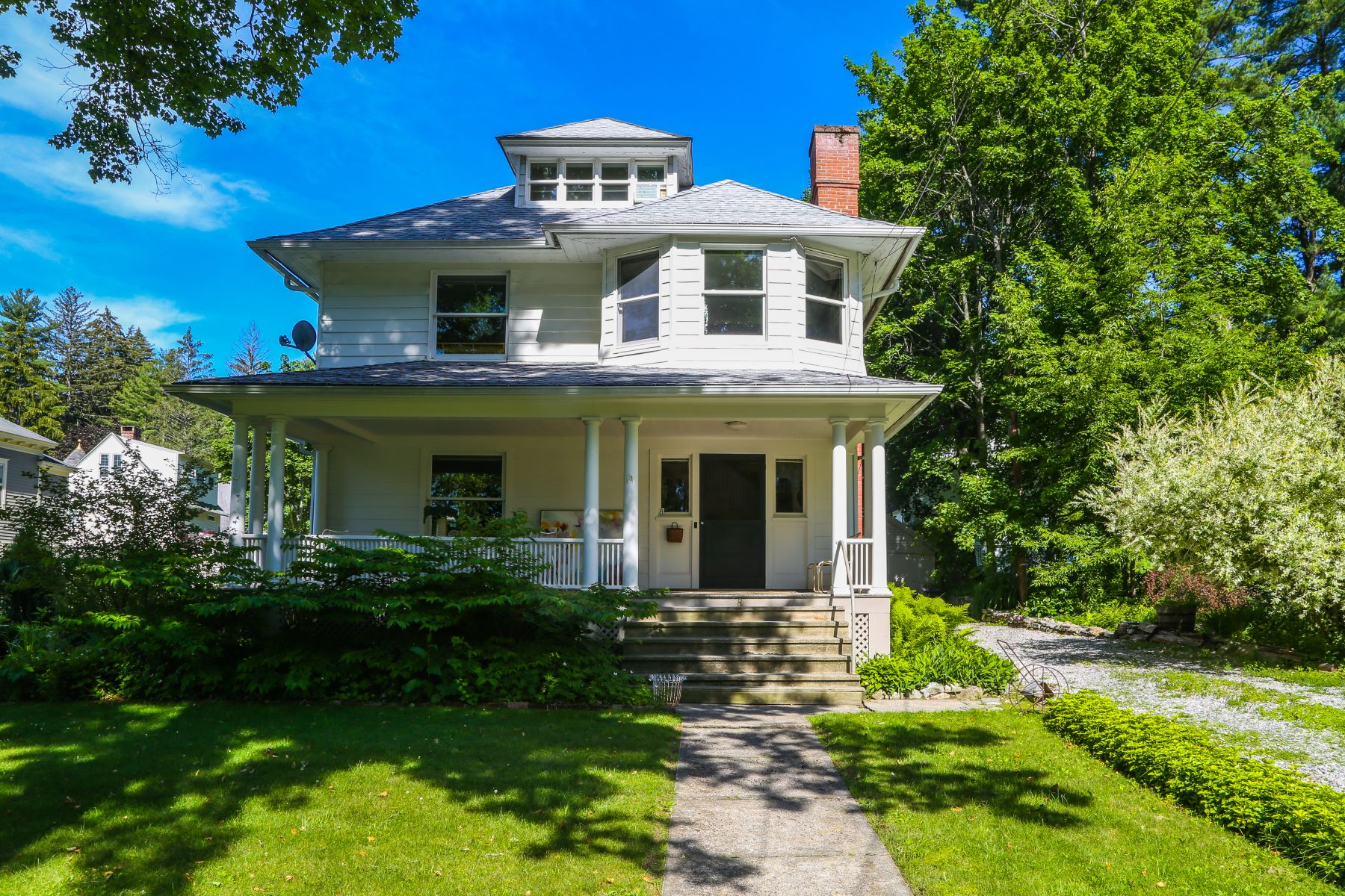 Single Family Home for Sale at Beautifully Maintained American Foursquare on The Hill 8 Oak St Great Barrington, Massachusetts 01230 United States