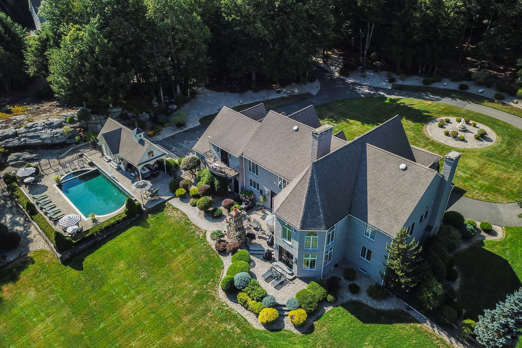 Single Family Homes for Sale at Impressive Private Compound on 21 Acres 31 Deer Run Rd Barkhamsted, Connecticut 06063 United States