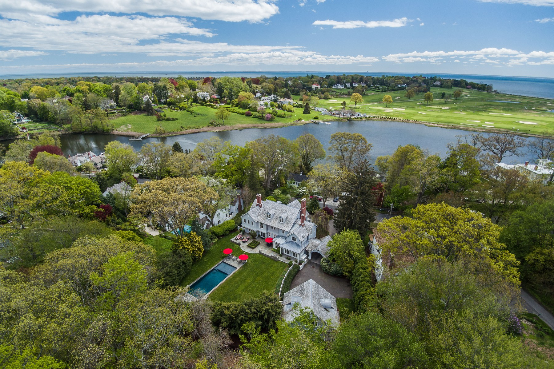 Single Family Home for Sale at SOUTHPORT SHINGLE STYLE ESTATE 322 Harbor Road Southport, Fairfield, Connecticut, 06890 United States