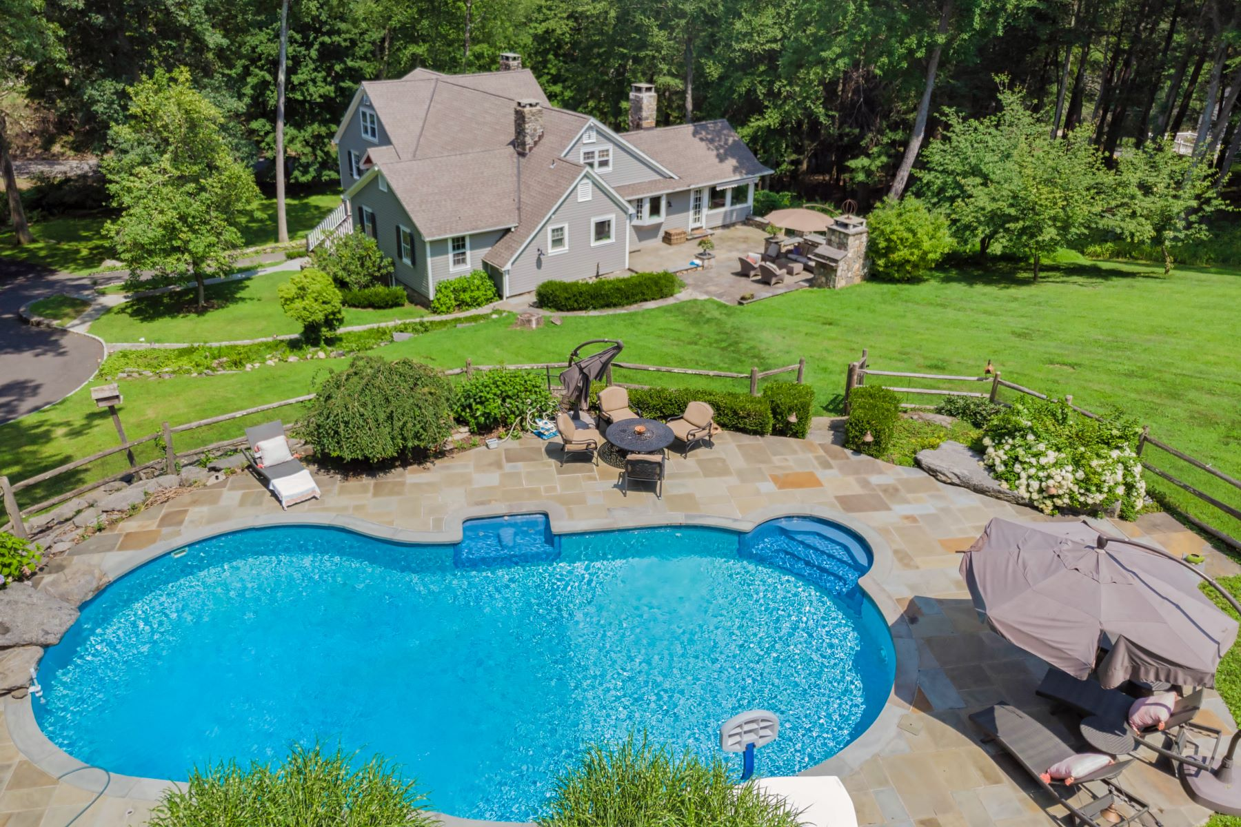 Single Family Home for Sale at Heated In-Ground Pool 7 New Bridge Road Brookfield, Connecticut 06804 United States