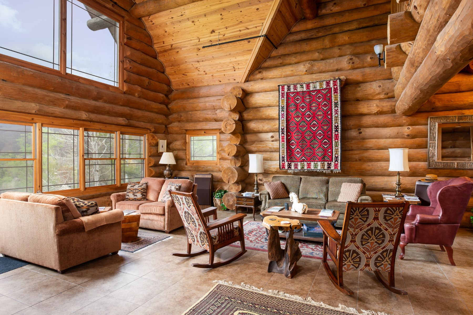 Single Family Home for Active at Stunning Log Home with Mountain Views in Wonderful Williamstown 61 Cobble View Rd Williamstown, Massachusetts 01267 United States