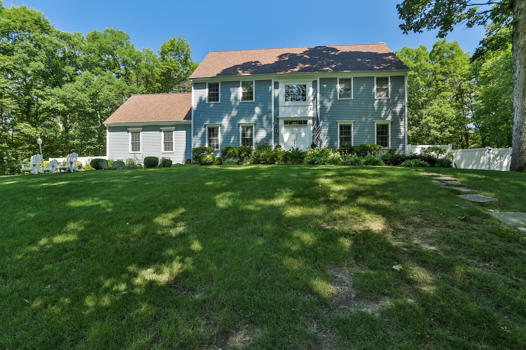 Single Family Home for Sale at Serene Colonial 30 Oak Lane Weston, Connecticut 06883 United States
