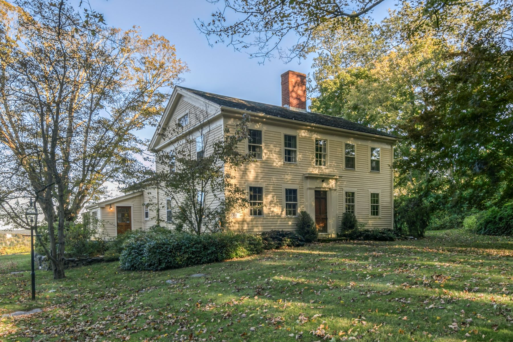 Single Family Homes for Sale at Quintessential New England 1850 Colonial 80 Goose Hill Road Chester, Connecticut 06412 United States