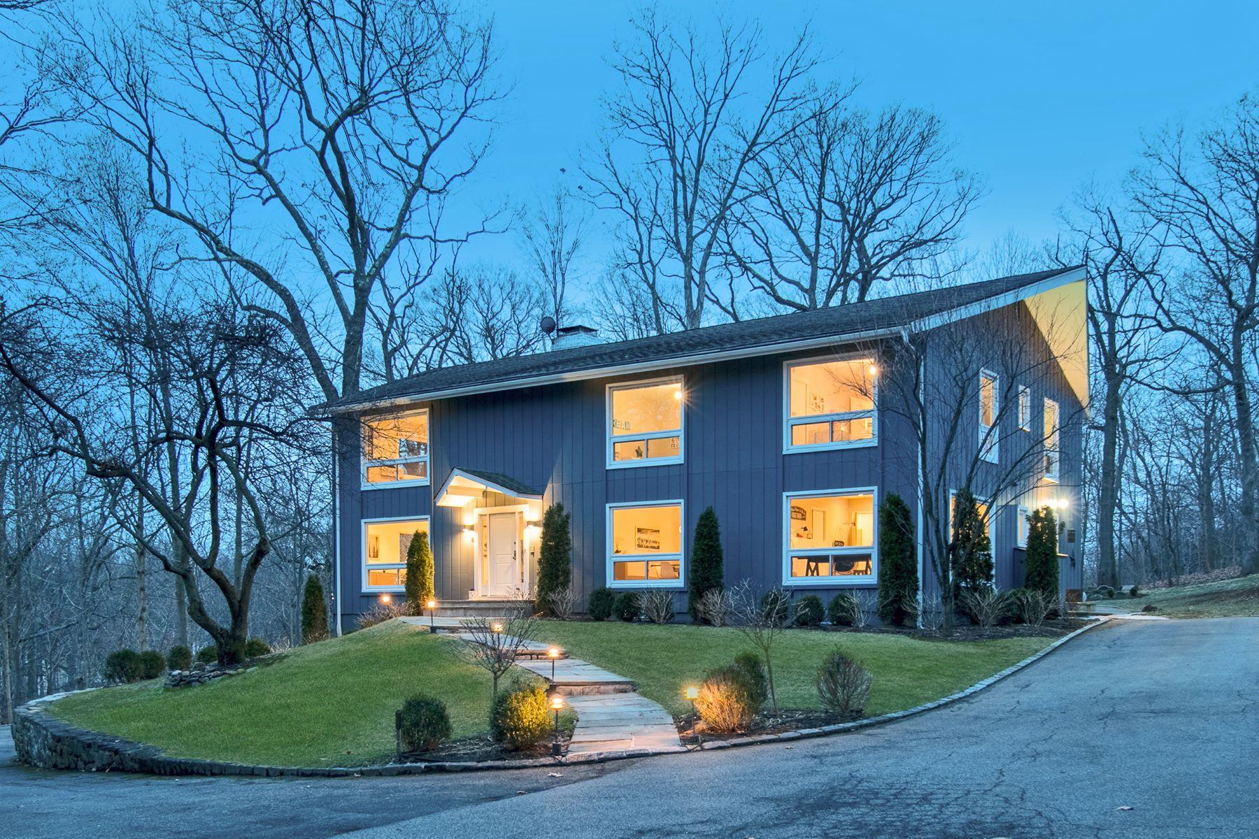 Casa Unifamiliar por un Venta en Contemporary Lifestyle in the Heart of Nature 8 Glen Lane, Mamaroneck, Nueva York, 10543 Estados Unidos