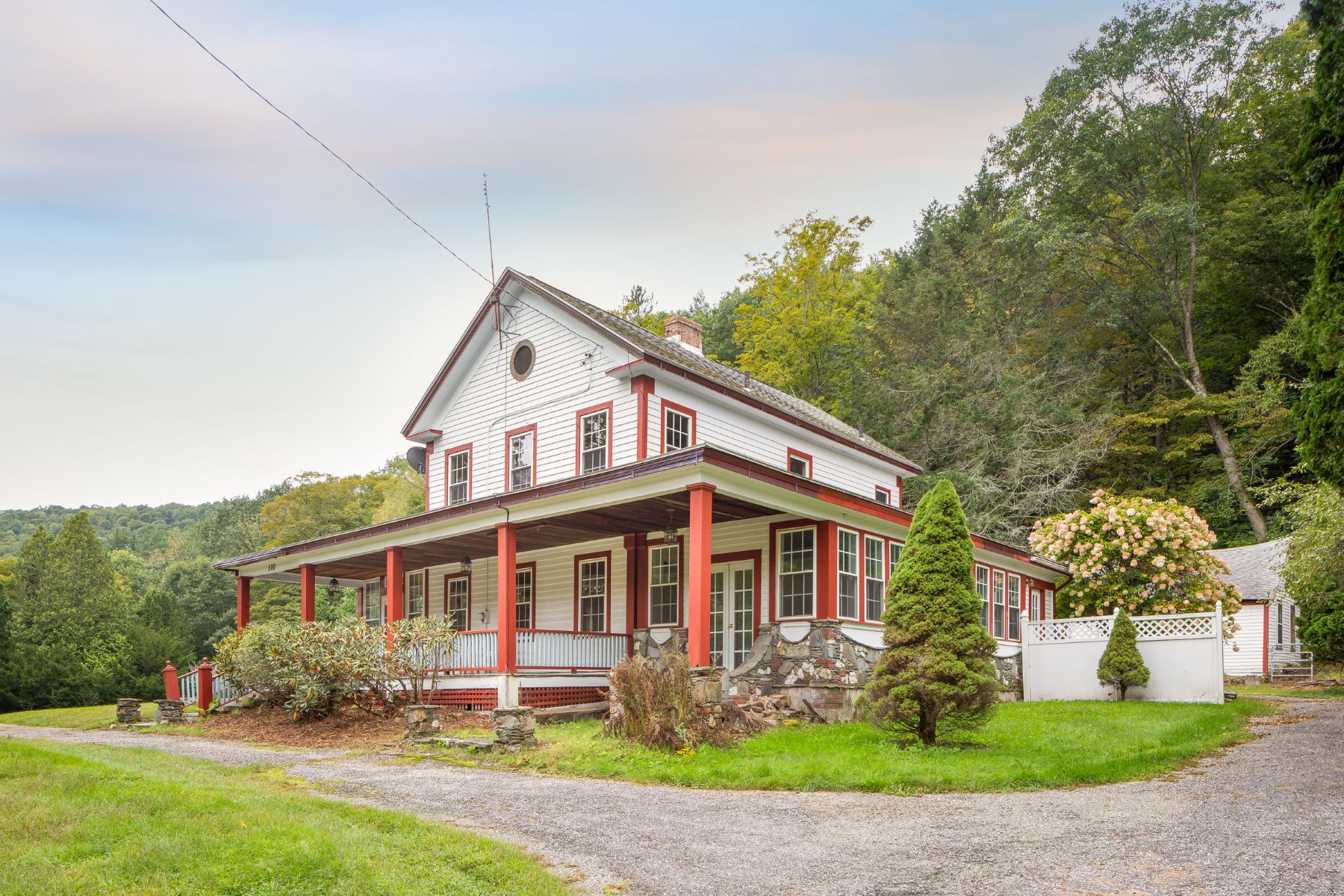 Single Family Home for Active at Historic Country Farmhouse with river frontage and bordering 810+ acres of conse 500 B East River Rd Chester, Massachusetts 01011 United States