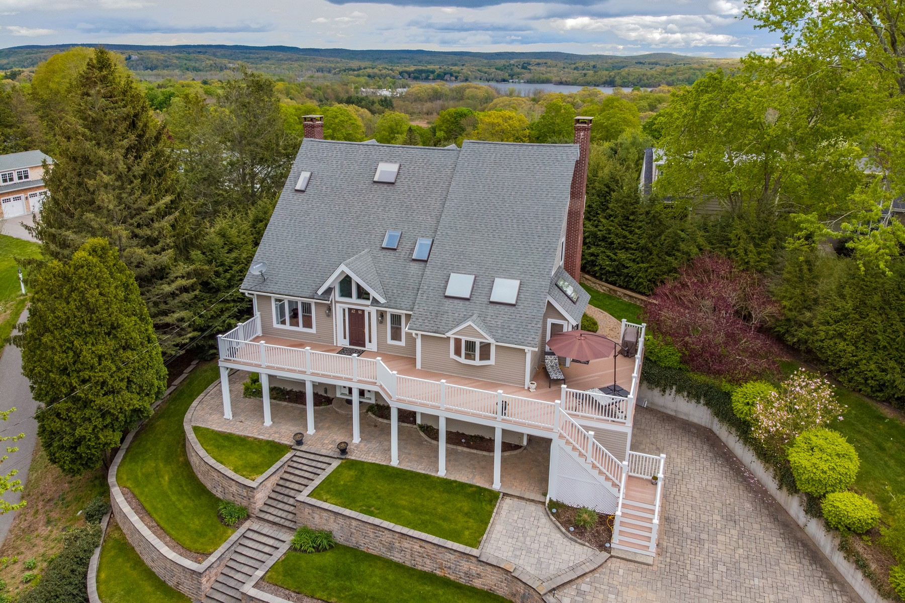 single family homes for Sale at Spectacular Views of the Connecticut River and Its Valley 25 Gilbert Hill Road, Chester, Connecticut 06412 United States